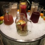 Prepared juices in pitchers