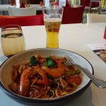 Lunch at the hotel's Taste restaurant. The dish is Hokkien Mee,