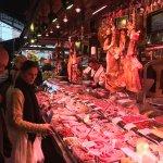 La Boqueria market - buying ham for our croquettes