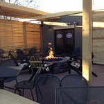 Great outside space with fire pit to warm and relax