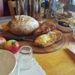 Lots of bread for breakfast