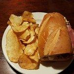 The Fountain Cuban sandwich with season hand cut chips