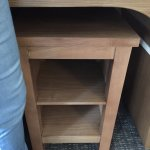 This tiny narrow low shelf is really impractical