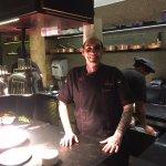 Chef Jacopo Avigo and the kitchen