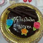Detalle de la tarta, hecha por encargo.