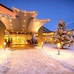 Hoteleingang Winter