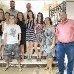 Com o meu grupo de amigos brasileiros no cruzeiro Sonesta San George