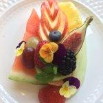 Seasonal fresh fruit plate