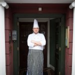 Ari, our Head Chef, ready for another busy service.