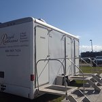 Portable restrooms while our bath house is under renovation.