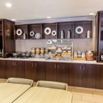 Our complimentary breakfast buffet has both hot and cold food items to choose from.