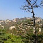La chaîne de sommets vers le nord-ouest
