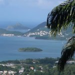 View from The Pink Plantation House with Pigeon Island in the distance