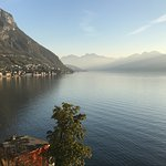 Looking towards Lecco from our balcony
