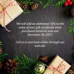 Holiday Gift Certificate 2017