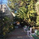 Jardin alrededor del museo