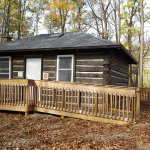 Front View of Rustic Riverside Cabin