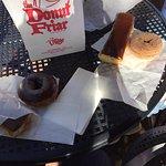 Eclairs, cinnamon donut, chocolate donut
