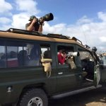 Our guests taking pictures in Lake Nakuru National Park