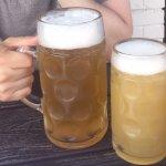 Big beer and bigger beer! Prost!