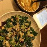 Harvest Kale salad, butternut squash soup and beet lemonade