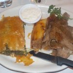 Combo..Gyros & Spinach Pie!! OPA!