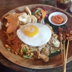 Sate with nasi campur