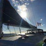 Sailing back!