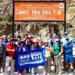 start of inca trail hike with SAS!