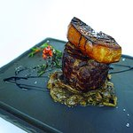 USA Black Angus Tenderloin 250G Served with Sauteed Mushrooms and Caramelised Duck Foie Gras