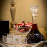 Complimentary Chocolates and Port Wine