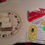 The lovely (free) goodbye cake and the heartwarming card