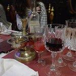Cocktail indien, vin et amuse bouche