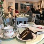 inside the Tealicious shop - fab cake, pretty china, good tea.