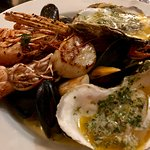 This is the delicious medium sized seafood platter at £19.99! Fantastic food, fantastic value!