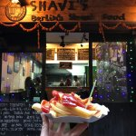 fries infront of the shop