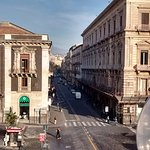 Piazza is situated right in the middle of Via Etnea.