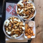 Poutine and deep fried cheese curds