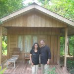 Me and My wife in front of the cottage where we stayed