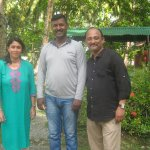 Me and My wife with Mr. Alex Rajan the son of the Owner