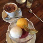 Trio of sorbets doused in champagne... why not?