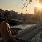 Rooftop jacuzzi sunset bliss