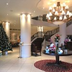 Christmas Decorations in the Hotel Lobby