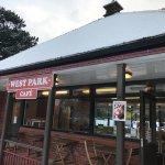 West Park Café in the Snow