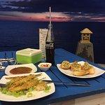 Sunset and good food