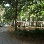 les emplacements pour tentes ou caravanes