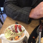 Was on holiday popped in this cafe for a hot drink what fabulous presentation and yummy too