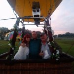 My husband and I with our pilot, Bob!