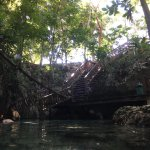 There are two stairways down/two entry points for the cenote