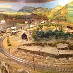 Upstairs: Model train, how it looked back then